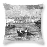 Alger: Ragged Dick Throw Pillow