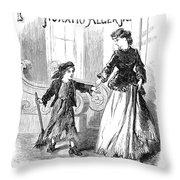 Alger: Tattered Tom Throw Pillow by Granger