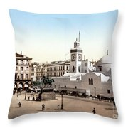 Algeria: Algiers, C1899 Throw Pillow