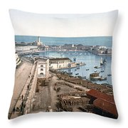 Algiers - Algeria - Harbor And Admiralty Throw Pillow