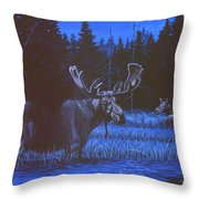 Algonquin Moonlight Throw Pillow by Richard De Wolfe