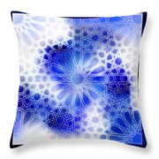 Alhambra Pattern Blue Throw Pillow
