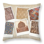 Alhambra Textures Throw Pillow by Jane Rix