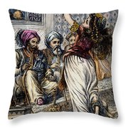 Ali Baba And 40 Thieves Throw Pillow