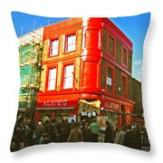 Alice's - London Throw Pillow