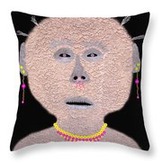Alien  Lifeform From  Stucco  World  -  One Throw Pillow