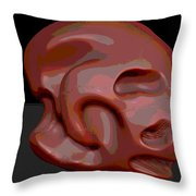 Alien Skull Throw Pillow