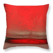 Alka-seltzer Dissolving In Water Throw Pillow by Photo Researchers, Inc.