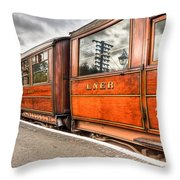 All Aboard Throw Pillow by Adrian Evans