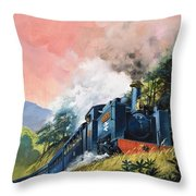 All Aboard For Devil's Bridge Throw Pillow