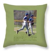 All Air Baseball Players Running Throw Pillow