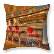 All American Diner 2 Throw Pillow