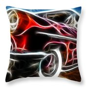 All American Hot Rod Throw Pillow