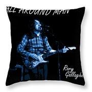 All Around Man Blues Square Throw Pillow