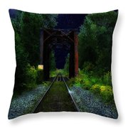 All Down The Line Throw Pillow