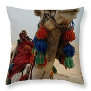 Camel Fashion Throw Pillow