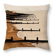 All Hallows Beach Throw Pillow