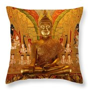 All That Gold Throw Pillow