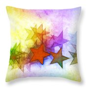 All The Stars Of The Rainbow Throw Pillow