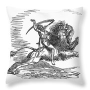 Allegory: July, 1837 Throw Pillow
