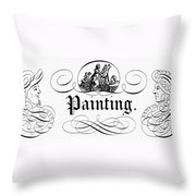Allegory Of Finance, 1743 Throw Pillow