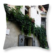 Alley In Bressanone Throw Pillow
