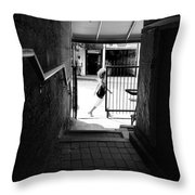 Alley Downtown Asheville Throw Pillow
