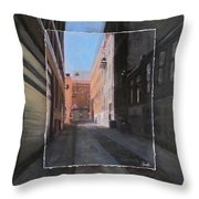 Alley Front Street Layered Throw Pillow
