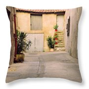 Alley In Arles France Throw Pillow