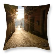 Alley In Backlight  Throw Pillow