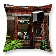 Alley Life And Art Throw Pillow