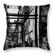 Alley Parade  Throw Pillow