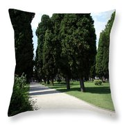 Alley Topkapi Palace Courtyard - Istanbul Throw Pillow
