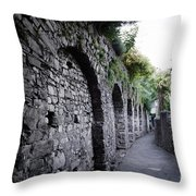 Alley With Arches Throw Pillow