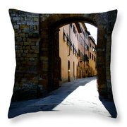 Alley With Sunlight Throw Pillow