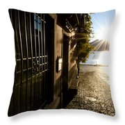 Alley With Sunshine Throw Pillow