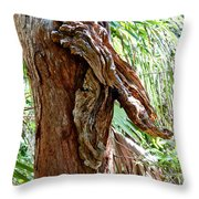 Alligator Cypress Knot Throw Pillow