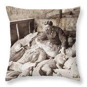 Alligators & Caymans Throw Pillow