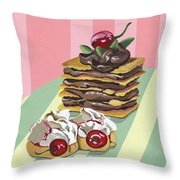 Almond Cake Throw Pillow
