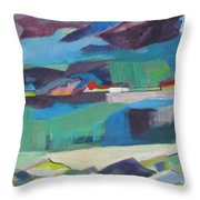 Almost Abstract Painting Throw Pillow