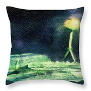 Almost Blooming Throw Pillow