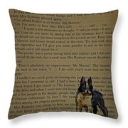 Almost Off The Page Throw Pillow