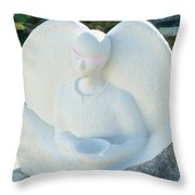 Alms For Angels Throw Pillow