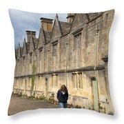 Almshouses Throw Pillow