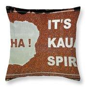 Aloha Kauai's Spirit Throw Pillow