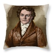 Alois Senefelder, German Inventor Throw Pillow