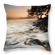 Alone With The Sea Throw Pillow by Mike  Dawson