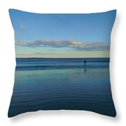 Alone With The Sea Throw Pillow