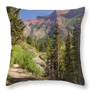 Along St. Mary's Lake Trail Throw Pillow
