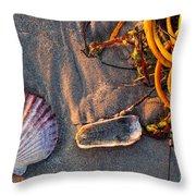 Along The Beach Texas Throw Pillow